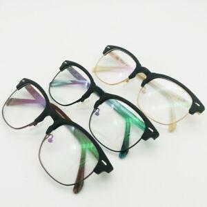 3b8cd672042 Image is loading TR90-Half-rim-Eyeglass-Frames-Wood-style-Glasses-