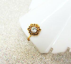 Indian Designer Nose Ring Mother S Day Gift Nose Pin Golden Clip