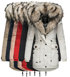 Details zu Navahoo Sweety 2in1 Damen Winter Jacke winter Parka Mantel Winterjacke sehr warm
