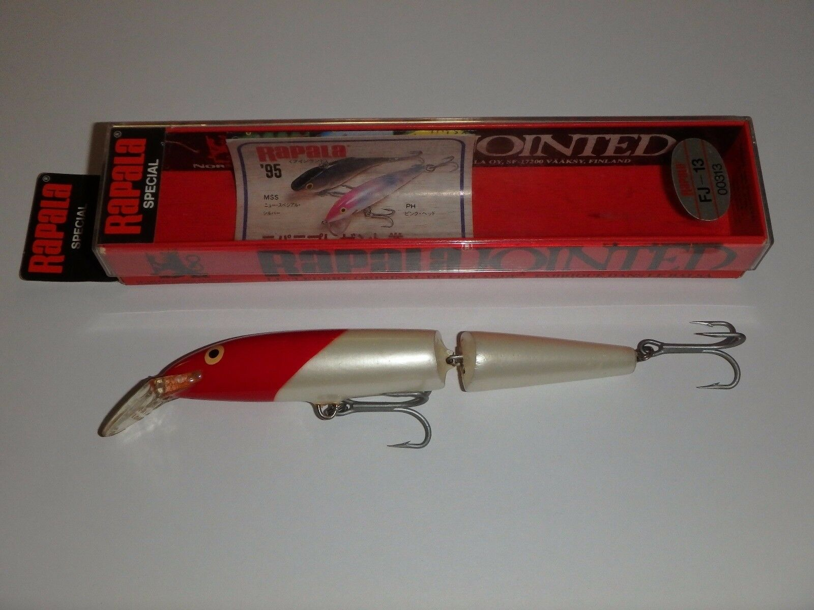 Rapala  Floating Jointed 13 RH Red Head Fishing Lure Japan Special  shop now