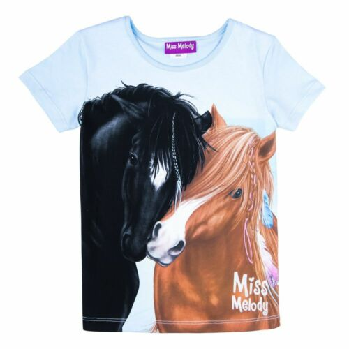 MISS MELODY t-shirt 84069 Horse violet turquoise clair 104//116//128//140 manches courtes