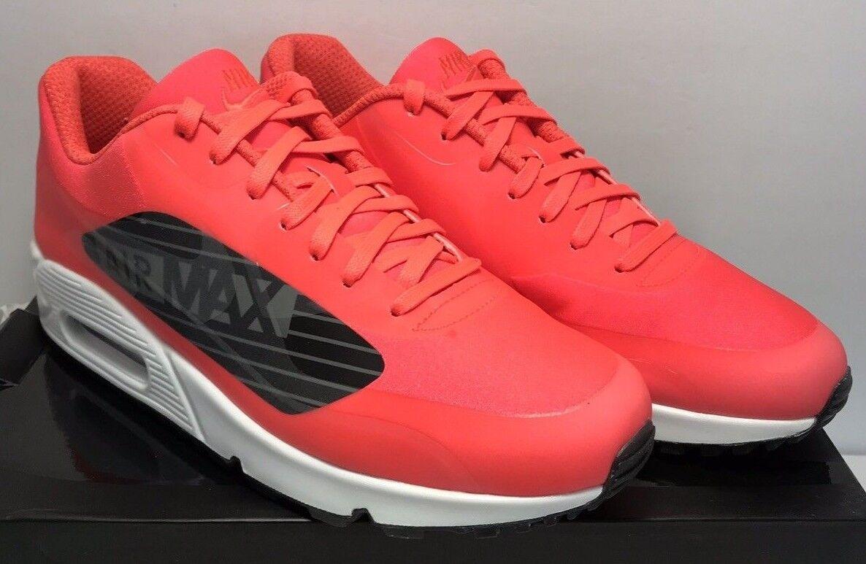 Nike Mens 12 Air Max 90 NS GPX Running Bright Crimson Black White AJ7182-600