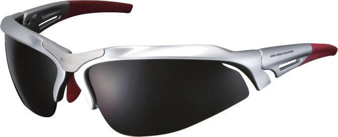 Shimano Fahrrad-Sonnenbrille S60R UV400-Schutz + Polycarbonat-Gläser,Plata