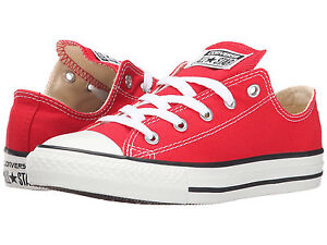 259aa0ef9053 NEW KIDS GIRLS BOYS CONVERSE CHUCK TAYLOR ALL STAR RED WHITE 3J236 ...
