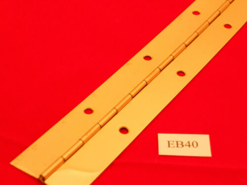 6 FT CONTINUOUS//PIANO HINGE BRASS OR NICKEL PLATED.