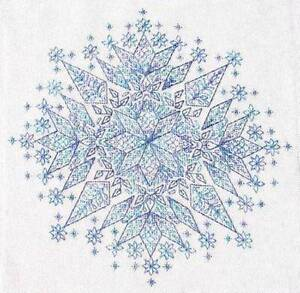 Frost Blackwork Type Chart & Silk Thread Pack-SEBA Designs (Crystal/Snowf<wbr/>lake) 1
