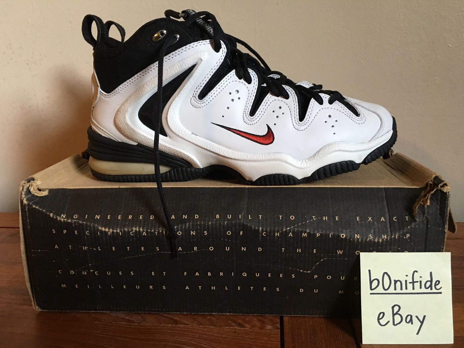 Nike Air VNDS Zo Tuff Size 12 VNDS Air 1998 ALONZO MOURNING FLIGHT ZOOM RARE OG PAYTON DS acf8e8
