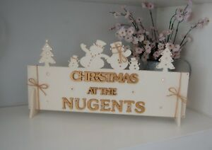 Christmas-SIGN-PERSONALISED-Family-Name-Gift-Ivory-an-Gold-Xmas-Decor