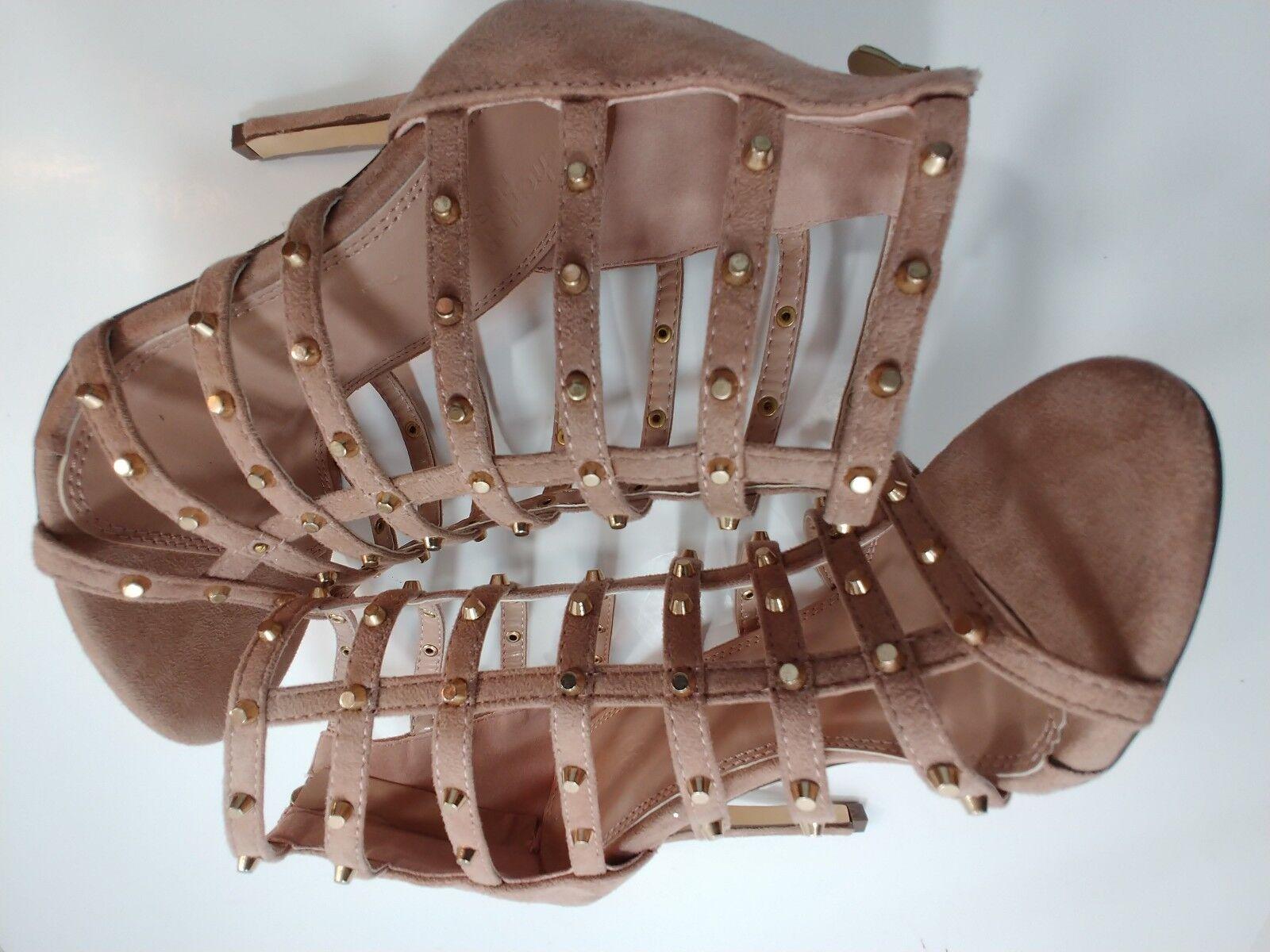 Charlotte Russe Beige Cage Strappy Strappy Strappy PeepToe Stiletto Hi Heel Sandal schuhe damen 6 e49eae
