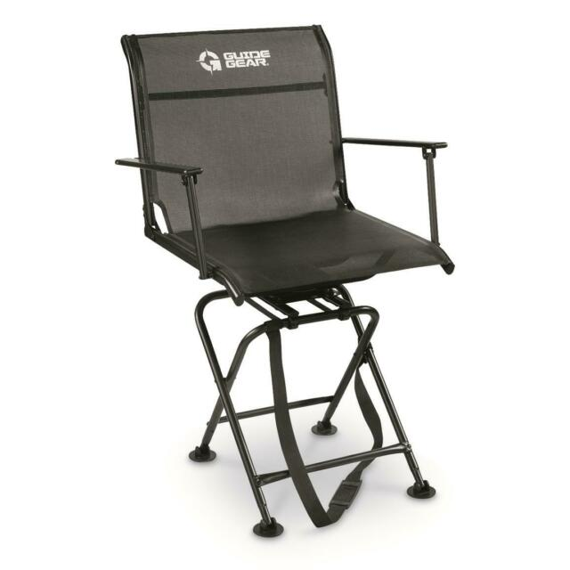 Hunting Blind Chair Silent Swivel 360 Degree Easy Transport Portable Fold Flat