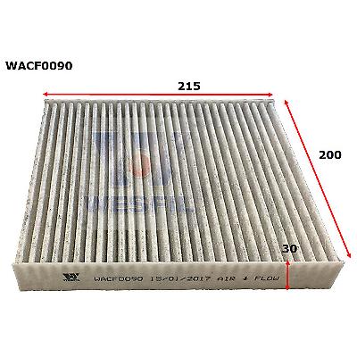 WESFIL CABIN AIR FILTER NAVARA 2015-2019 OUTLANDER COLORADO LANCER WACF0090
