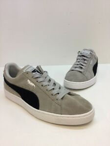1ff19c52a3ae Men s Puma Suede Gray   Black Classic Low Top Lace Up Sneakers Size ...