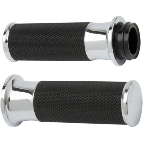 Arlen Ness Chrome Smooth Fusion Grips for 2008-2018 Harley Throttle-By-Wire