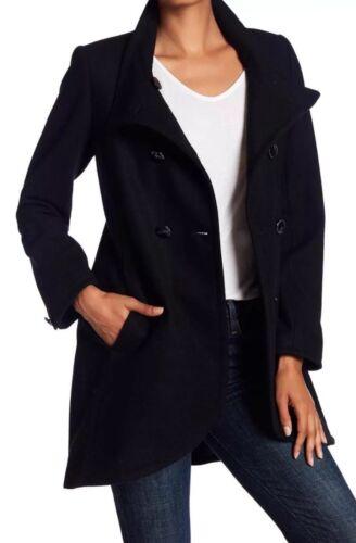à en Cynthia double taille Gianna laine Steffe By 8 en Cece noir mélange Manteau boutonnage de Anqzc7TF7