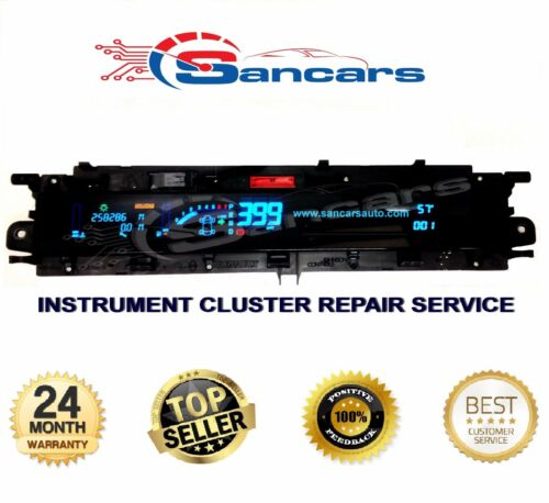 RENAULT SCENIC DIGITAL DASH  INSTRUMENT CLUSTER  REPAIR SERVICE P8200365607D