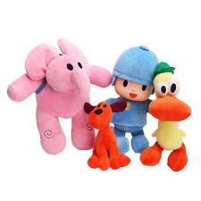 Set Of 4pcs Bandai Pocoyo Elly Pato Loula Plush Stuffed Figure kids toys dolls