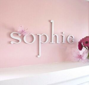 Wooden Hanging Wall Letters for Children's, Nursery, Baby's and Girls' Bedroom