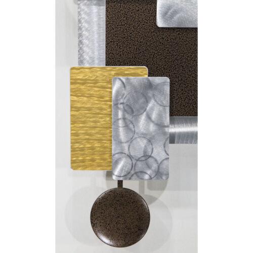 Statements2000 Modern Metal Wall Clock Art Geometric Decor by Jon Allen Tectonic