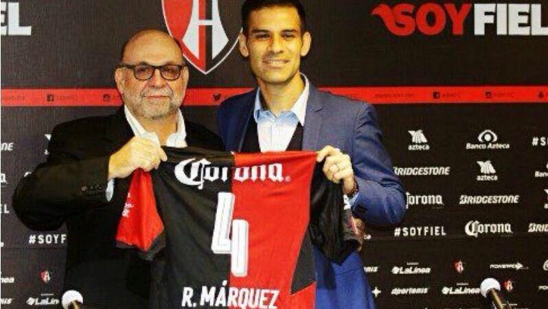 Club Atlas Jersey Profesional Utileria Rafael Márquez nombre número auténtico