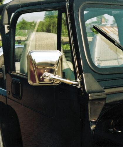 Exterior amc CJ jeep Wrangler YJ spiegelset mirror espejo de acero inoxidable