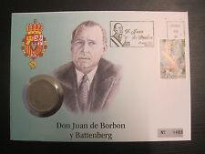Numisbrief Monarchen, gekrönte Häupter Europas, Spanien  #815