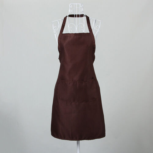 10 Colors Polyester Solid Cooking Kitchen Restaurant Bib Apron Dress with Pocket