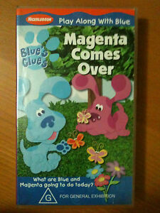 BLUE'S CLUES ~ PLAY ALONG WITH BLUE ~ MAGENTA COMES OVER ...