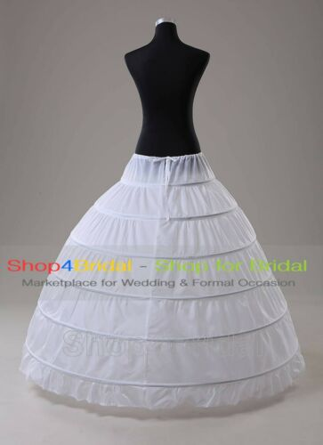 White 6-HOOP//3-HOOP Bridal Prom Ball Gown Silps Crinoline Petticoat Underskirts