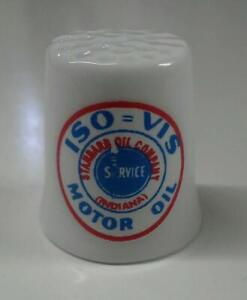 Up4Bid Standard Oil ISO = VIS Gasoline Collectible Porcelain Thimble