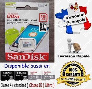 48-MB-s-SANDISK-ULTRA-Carte-Memoire-Class-10-Micro-SD-SDHC-16-Go-ou-4-8-32-64-Gb