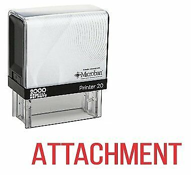 Red Ink E-5217 ATTACHMENT Office Self Inking Rubber Stamp