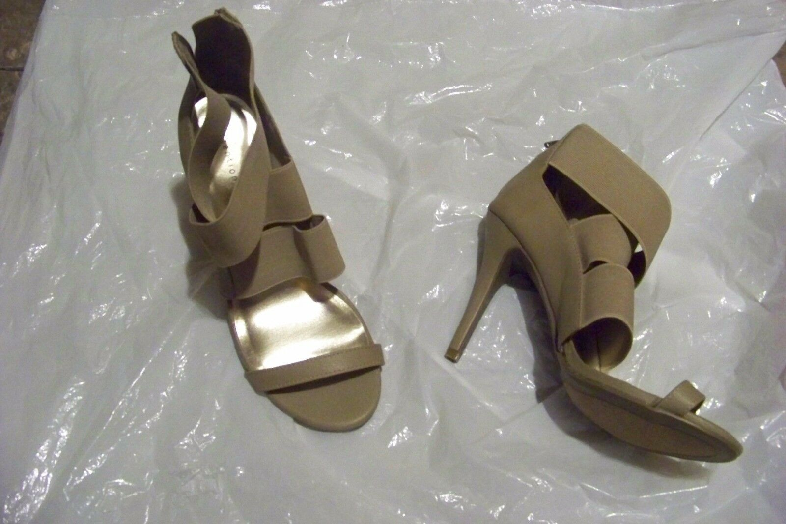 womens attention fitz taupe 8 strappy heels shoes size 8 taupe 1/2 2f69f3