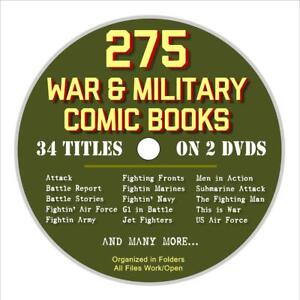 275-Military-Comic-Books-on-2-DVDs-War-Comics-Army-Navy-Jet-Fighters-WW2