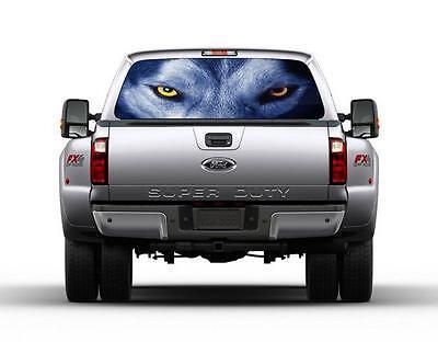 Wolf Eyes Car Rear Window Decal Sticker Car Truck SUV Van Animals 171