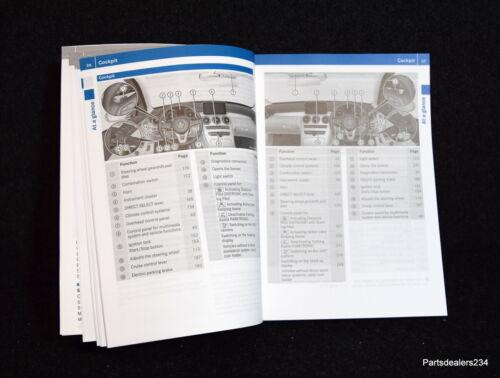 MERCEDES C-CLASS W205 2014-2018 OWNERS MANUAL HANDBOOK WALLET M-125