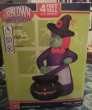 """Gemmy Airblown Inflatable """"Witches Brew"""" 4 Feet Tall Halloween Retired"""