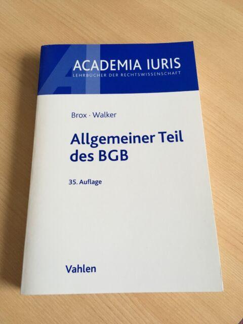 Brox • Walker Allgemeiner Teil des BGB (35. Auflage)