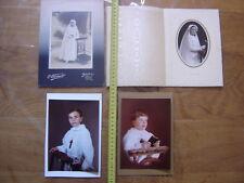 Lot PHOTO portrait de communiant religion chretienne communion VINTAGE