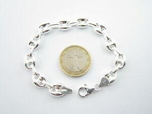 1 bracciale argento 925 maglia 19 cm grumetta h 4mm uomo unisex silver bracelet