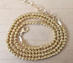 0bc6c5e1befd07 Gold Filled Chocker Necklace Tiny Gold Plated 3mm Diamond Laser Cut ...