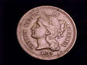 1873-Three-Cent-Nickel-Very-Fine-Grade-This-is-the-Open-3-Variety