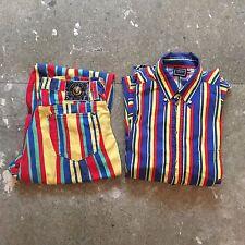90s vintage Versace Jeans Couture multi shirt - M MEDIUM L LARGE rave garage set