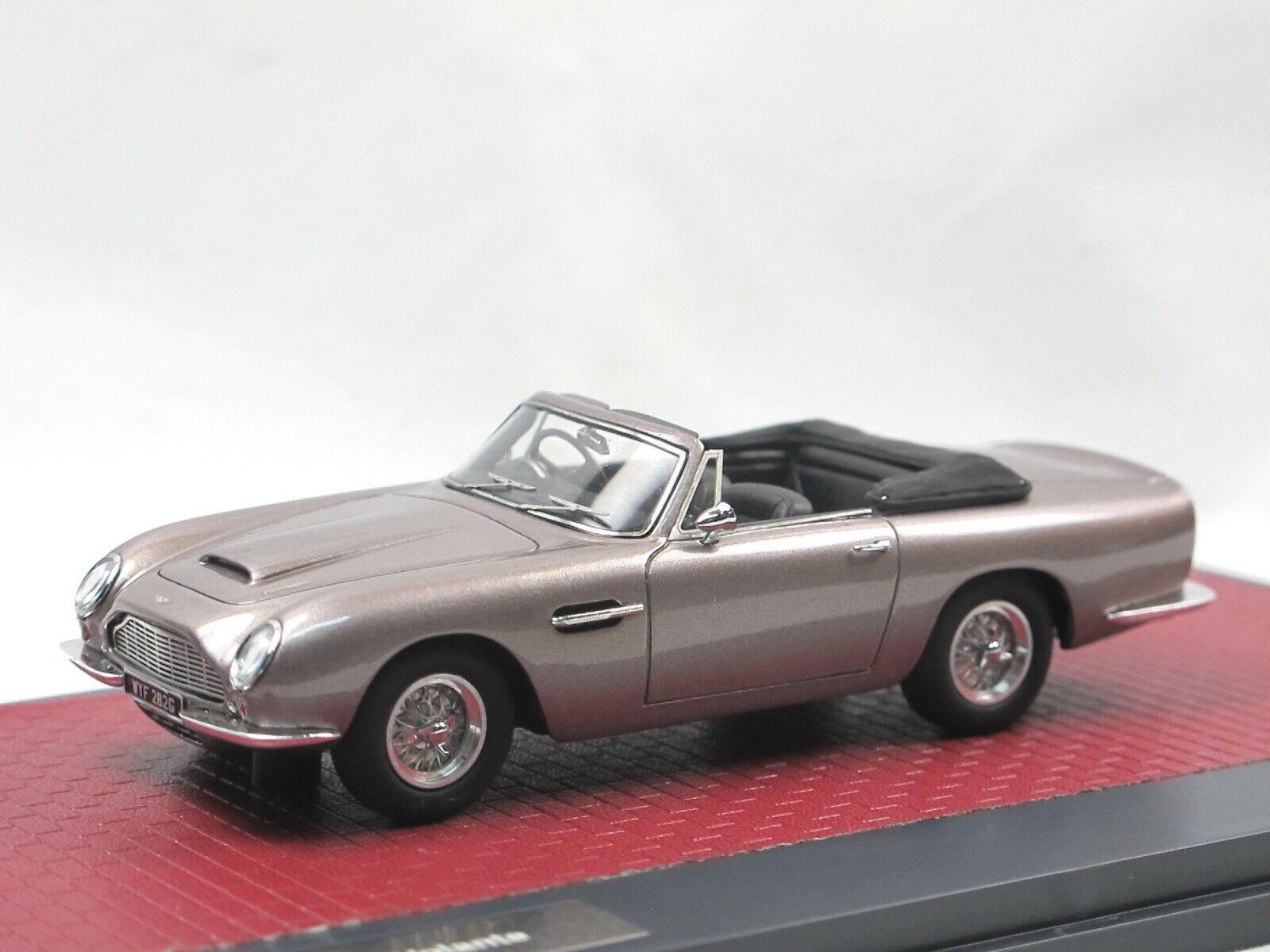 Matrix Scale Models 1968 Aston Martin DB6 Volante Top Down grey metallic 1 43
