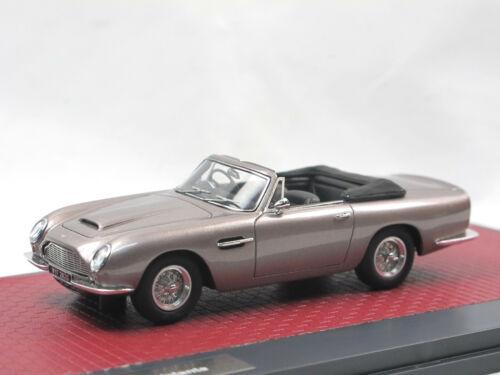 Matrix Scale Models 1968 Aston Martin db6 VOLANTE Top Down Grey Metallic 1:43