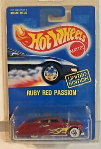Hot-Wheels-1992-Limited-Edition-Ruby-Red-Passion-w-White-Wall-Tires