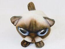 Fur Balls Chocolate Point Siamese Cat ~ Cute Cuddly Round Plush Pets, Style #4