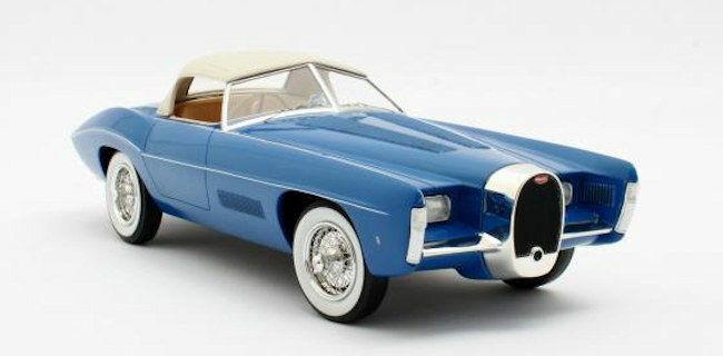 1 18 Matrix Mxl0205-022 1966 Bugatti T101c Exner Ghia Azul Closed