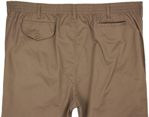 Big /& Tall Men/'s Falcon Bay Casual Twill Pants FULL ELASTIC Waist Sizes 44-70
