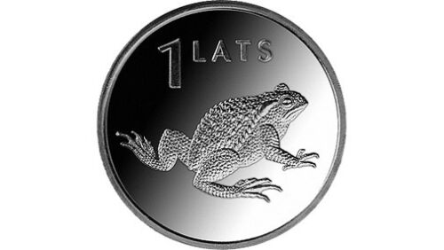 amphibian 1 Lats 2010  FROM MINT ROLL  UNC Latvia animal coin toad