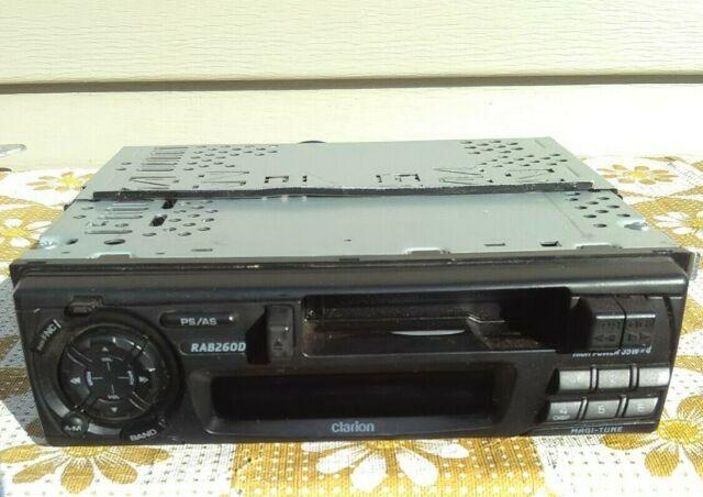 Vintage Car Stereo Cassette Player Clarion RAB260D 12V Magi-Tune AM FM Radio